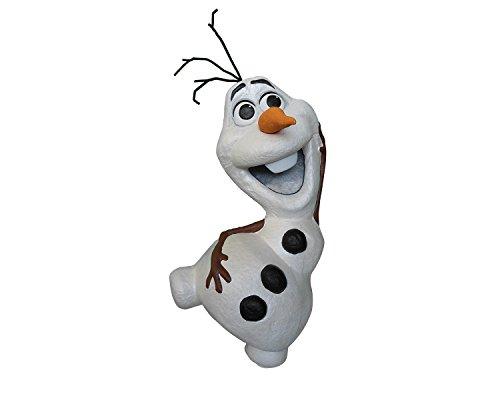 Disney Piñata de Carton 3D Olaf Frozen, Color Blanco