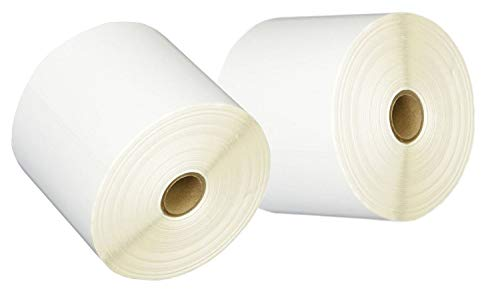 iMBAPrice 2 Rolls of 450 Label (USA Made) 4x6 Direct Thermal for Zebra 2844 ZP-450 ZP-500 ZP-505 Shipping Labels Perfect Roll for 1 INCH CORE Thermal Laser Printers