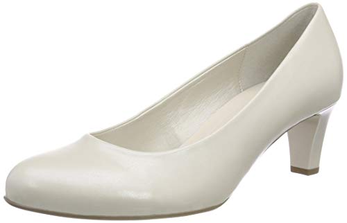 Gabor Shoes Damen Basic Pumps, Weiß (Off-White+Absatz 80), 42 EU