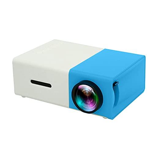 duoying Proyector WiFi, proyector portátil llevado Hd 1080p proyector micro con HDMI/VGA/USB/ordenador portátil/TV Stick/PS4