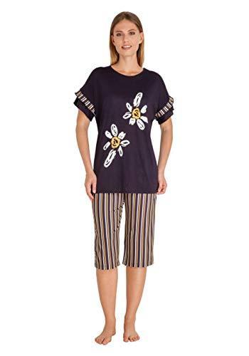 hajo Polo & Sportswear Damen Capri Schlafanzug Stretch
