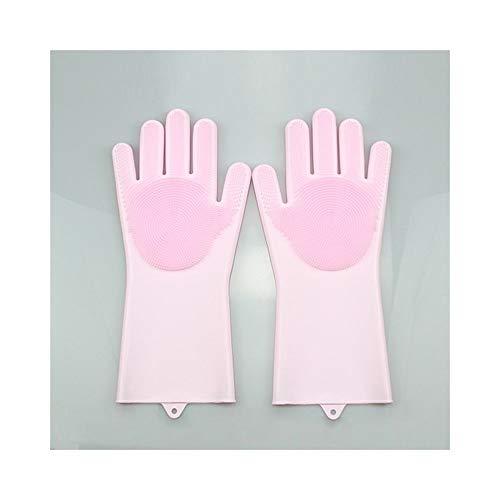 Ywlanlantrading Gant Gants de Vaisselle imperméables Anti-dérapants Gants ménagers multifonctionnels, 1 Paire (Color : Pink, Size : L)
