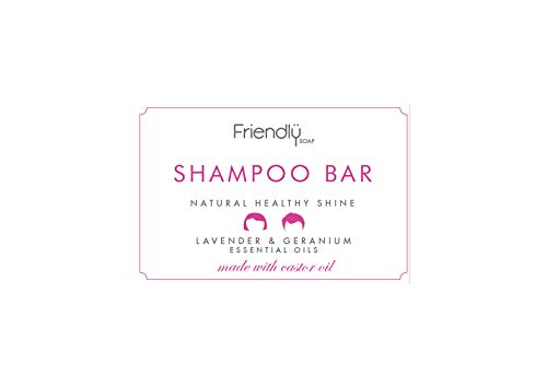 Friendly Soap Shampoo Bar Lavendel en Geranium, 6 stuks