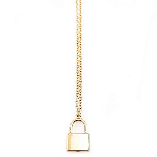 QQWA Stylish and Simple Lock Pendant Necklace and Decorated Gift for Women Charm Chain Necklace Jewelry Accessory Gift
