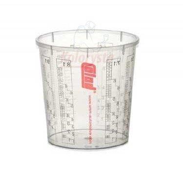 Colad 10x Mischbecher mit Maßstab 2300 ml LACK FÜLLER - Becher ohne Deckel