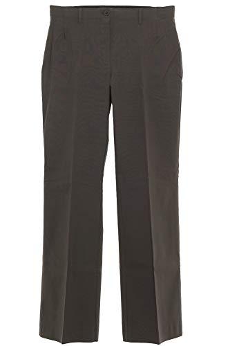 Sheego Bengalin Stretch Hose Bootcut Stoffhose Pants Damen Plusgröße Viskose, Farbe:Dunkelbraun, Damengrößen:48
