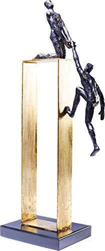 Kare Design Deko Objekt Elements Come Together, goldenes Dekoobjekt mit 2 Figuren, edles Dekoobjekt