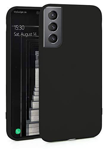 MyGadget Silikon Hülle für Samsung Galaxy S21 - robuste Schutzhülle TPU Hülle Slim - Dünne Silikonhülle Back Cover - Ultra Kratzfest Handyhülle - Schwarz