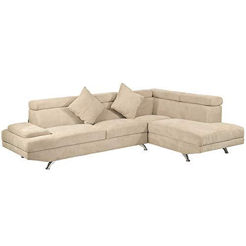 BestMassage Functional Corner Sofa Set Leather Armrest
