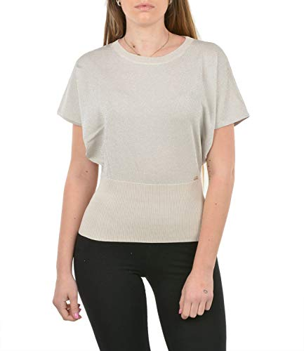 Yes Zee Camiseta de mujer M212-IM00 Primavera/Verano beige L