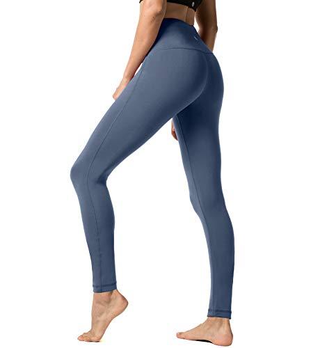 LAPASA Donna Allenamento Leggings Opaco Yoga Fitness Spandex Palestra Pantaloni L01 (Medium/IT 42, Blu super opaco 3)