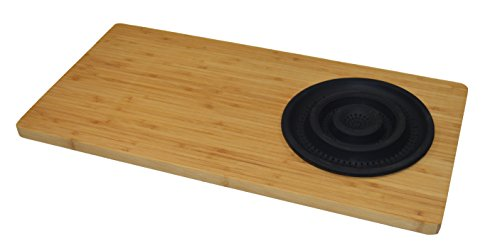 Jocca 1633N Tabla con escurridor para Fregadero, Marrón, 29 cm