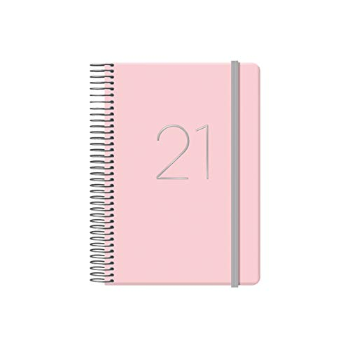 Dohe Agenda Gloss - Agenda Anual Día por Página - Sábado y Domingo en la misma Página - Medidas 12,5 x 18 cm - 336 páginas - Color Rosa - Agenda 2018