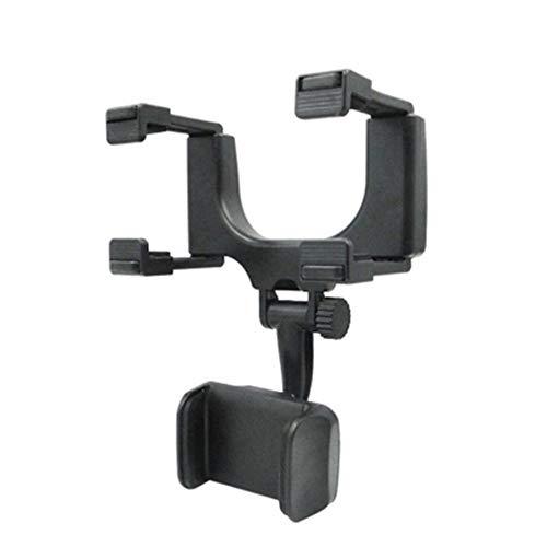 LMJI Soporte Universal para teléfono para automóvil Soporte para Espejo retrovisor GPS Soporte para teléfono Inteligente, Negro