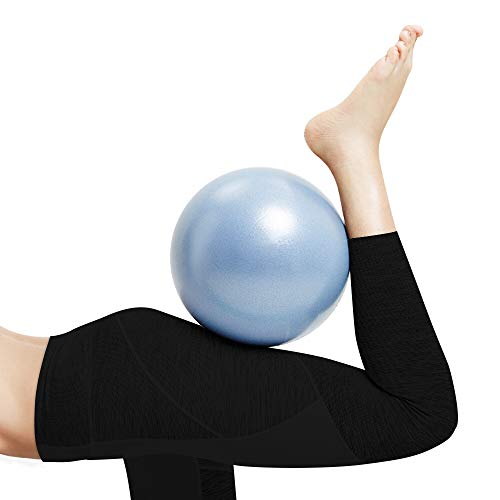 Hually Pelota de Ejercicios de Pelota de Mini Pilates de Yoga para de 25cm, Pelota de Yoga de tamaño pequeño Bolas de Yoga Antideslizantes Profesionales Balance Sport,Yoga, Masaje y Pilates en Casa.