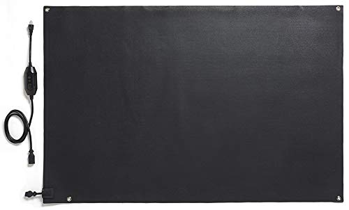 """HeatTrak Heated Snow Melting Mats for Entrances - Heated Outdoor Mats - Snow Melting Mats for Winter Snow Removal - Trusted Snow and Ice Melt Products - No-Slip Heating Entrance Mats (40"""" x 60"""")"""