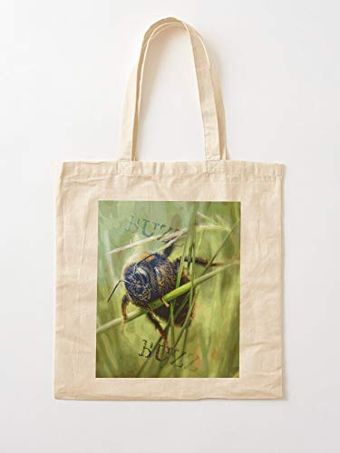 Bumble Honeybee Bee Garden Tote Cotton Very Bag | Canvas Grocery Bags Tote Bags with Handles Durable Cotton Shopping Bags