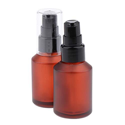 2x Sprühflasche Spray Flasche aus Braunglas Zerstäuber Fingerzerstäuber Sprühflaschen Pumpsprüher Glasflaschen Parfümzerstäuber - 30 ml