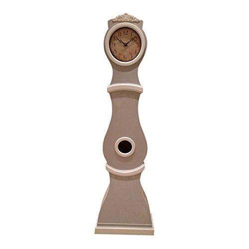 Gustavian Mora Uhr, Nachdruck, französisches Grau