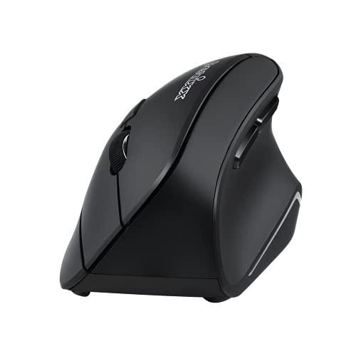 Perixx PERIMICE-715II Wireless Ergonomic Vertical Mouse - 2.4 G - 800/1200/1600 DPI - Right Handed Natural Ergonomic Vertical Design