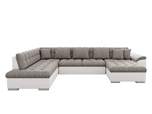 Mirjan24 Eckcouch Ecksofa Niko! Design Sofa Couch! mit Schlaffunktion! U-Sofa Große Farbauswahl! Wohnlandschaft! (Ecksofa Rechts, Soft 017 + Lawa 05)