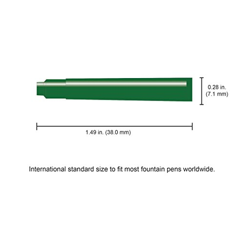 Monteverde International Size Cartridge to Fit Fountain Pens, Green, 6 per Pack (G302GN) Photo #3