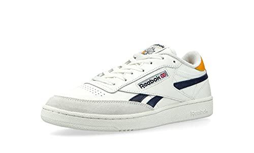 Reebok Club C Revenge - Zapatillas de running para hombre, Blanco, azul y amarillo., 42.5 EU