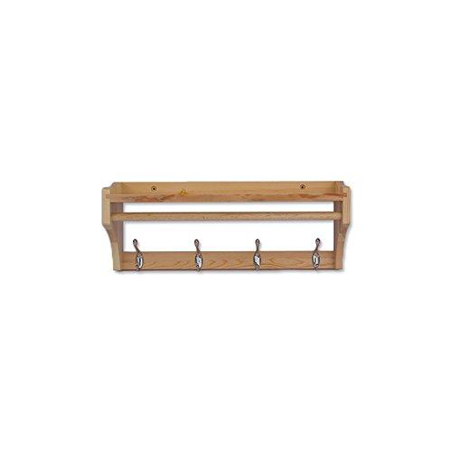 QX Coat racks IAIZI Kleiderständer Wandhalterung/Massivholz Hanger/Wandhaken/Zahnstangen/Multifunktions- Zimmertür Kleiderablage/DREI Farb hängende Kleiderablage (51,5/65,5/79.5cm * 15 * 20 cm)