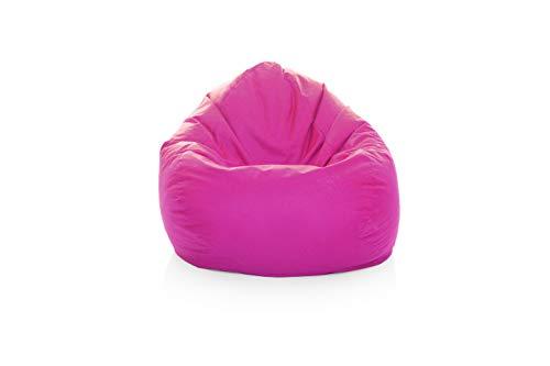 GlueckBean Gamer zitzak peer XXXL XXL XL maat lounge fauteuil zitkussen Outdoor Indoor vloer kussen gamen bank stoel met EPS piepschuim vulling XXXL-420 roze