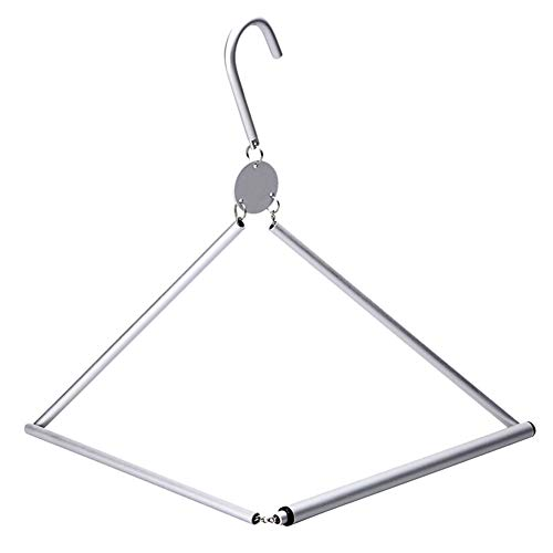 1PC Practical Aluminium Alloy Folding Durable Clothes Hanger for Home Outdoor Travel