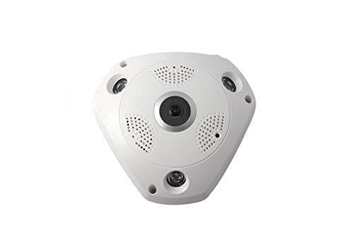 Videocamera Panoramica Ip Grandangolo 360 Digitale Vr Cam 3LED Soffitto Tf Card