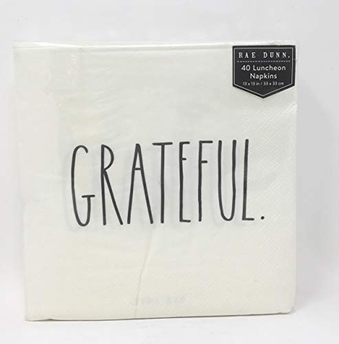 Rae Dunn Grateful 40 Luncheon Paper Napkins -  Magenta