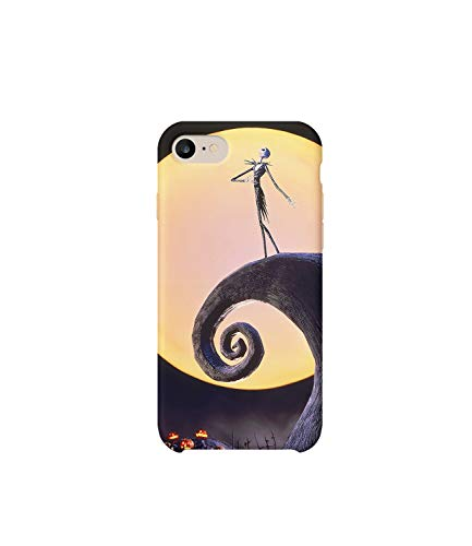 GlamourLab Nightmare Before Christmas Scene Protective Case Cover Hard Plastic Handyhülle Schutz Hülle for iPhone 7 Regalo di Natale