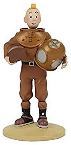 Moulinsart- Figura de Colección Tintín Buzo, Color marrón, 12 cm (42229)