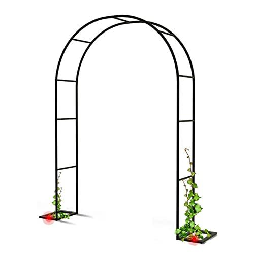 LIUD Metallo Arco da Giardino Nero Resistente Pergolato Tubolare Resistente per Rose Piante Rampicanti Supporto Decorazione da Giardino Ad Arco (Size : 2.4x2.2m)