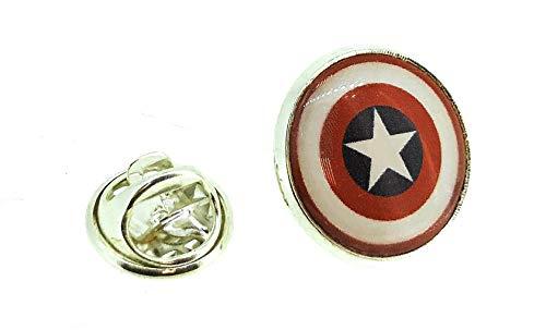 Gemelolandia | | Pin de Solapa Capitán América | Pines Originales Para Regalar | Para las Camisas, la Ropa o para tu Mochila | Detalles Divertidos