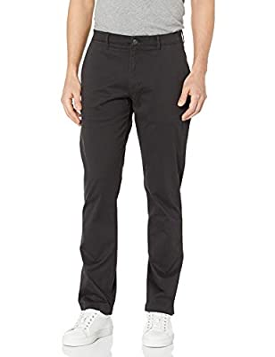 Amazon Brand - Goodthreads Men's Slim-Fit Washed Stretch Chino Pant, Black, 33W x 30L