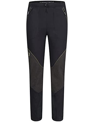 MONTURA Vertigo MPLSV1X 9047 - Pantalones largos para hombre, color negro, verde lima, ideales para actividades al aire libre como senderismo, escalada, alpinismo, esquí y alpinismo, Negro , L