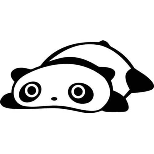 panda bear jdm Vinyl Car Window Laptop Decal Sticker