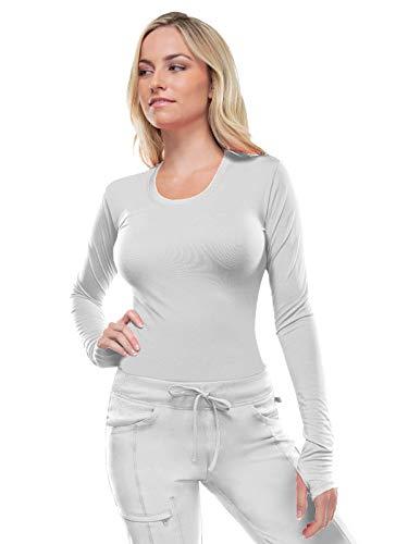 Cherokee Women's Infinity Long Sleeve Shirt, White, Medium