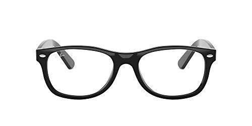 Ray-Ban 0rx 5184 2000 54 Monturas de Gafas, Shiny Black, Unisex-Adulto