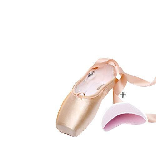 Mengmiao Scarpette da Ballerina Scarpe Danza Classica Scarpe da Ballo Scarpe da Punta per Bambini Adulti (Pink#5, Taglia 33)