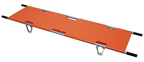 JHKGY Camilla portátil Plegable Plegable de Emergencia con Dos Barras de Acero, para hospitales, centros de Emergencia y Campos de Batalla para Transporte de heridos y Enfermos - Naranja