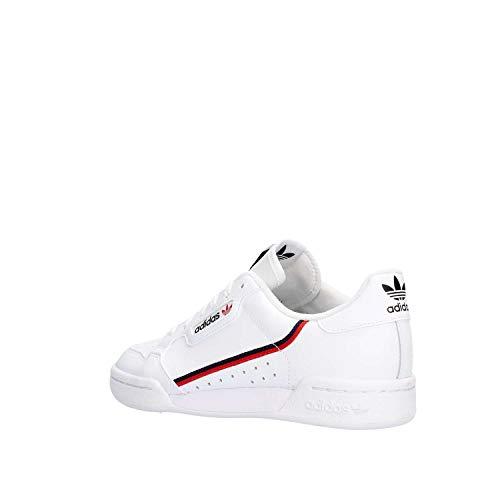 Adidas Continental 80 J, Zapatillas de Deporte, Blanco (Ftwbla/Escarl/Maruni 000), 37 1/3 EU