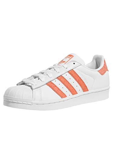 adidas Damen Superstar W Sneaker, Silber, weiß / korall, 5.5 UK - 38.2/3 EU