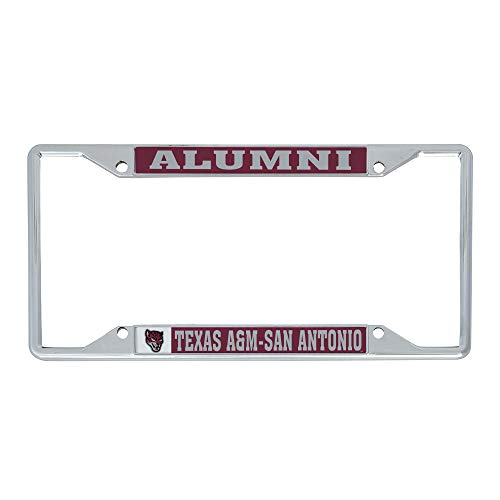 Desert Cactus Texas A&M University San Antonio Jaguars NCAA Metal License Plate Frame for Front or Back of Car Officially Licensed (Alumni)