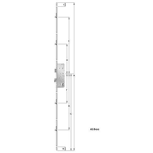 Format 4053569191944 PZ.E92.VK8.D35.16KTDL/DR Mehrfachverriegelung für Haustür