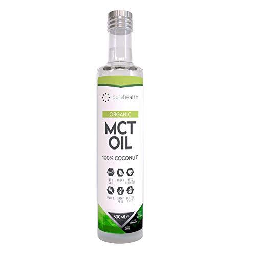 Premium Organic 100 Coconut MCT Oil 500ml Glass Bottle Caprylic Acid C8 Capric Acid C10 Non GMO Paleo Keto Diet Vegan Gluten Free Add toBulletproof Coffee 500ml Organic C8C10