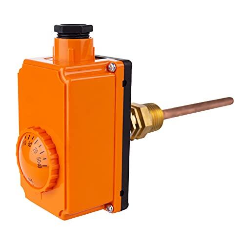 THERMIS Termostato con carcasa THS-210 Termostato de regulación 40°- 210°C, Regulador de temperatura, Cánula de inmersión 100mm