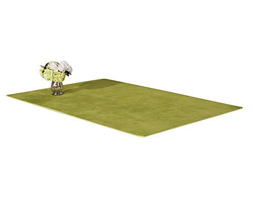 Shaggy Alfombra Rectángulo Habitaciones Alfombra Para Elegir Dormitorio Pasto Verde 120 * 200CM